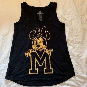Black and Gold Minnie Mouse tank